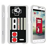 MINITURTLE Case Compatible w/ [LG Optimus L70 Case, Ultimate 2 Case, Optimus Exceed 2 Case][Snap Shell] Hard Plastic Lightweight Slim White Snap on case w/ Unique Designs Game Controller For Sale
