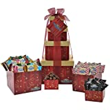 Ghirardelli Holiday Chocolate Tower, Winter Whishes, 1.75 Pound