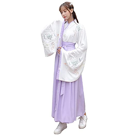 YCWY Traje Vintage para Mujer, Vestido Chino Bordado de ...