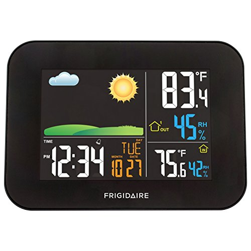 FRIGIDAIRE 308-1513-INT Multi-Color Digital LCD Wireless Forecast Station with USB Charging -
