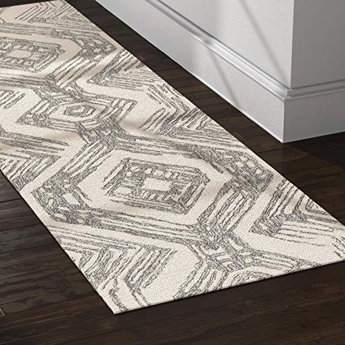 (Rivet Geometric Wool Runner Rug, 2' 6