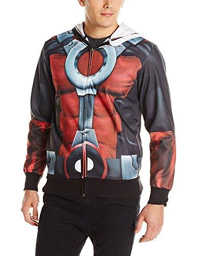 Teenager's/Adults Deadpool Fleece Mask Hoodie Costume