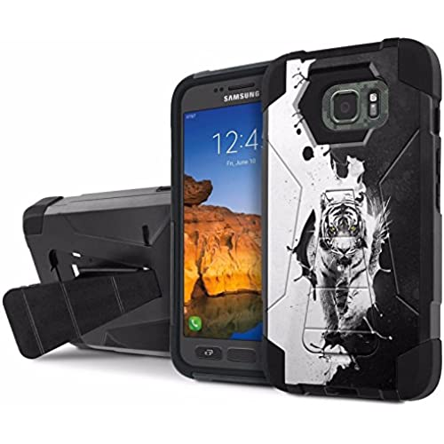 AT&T [Galaxy S7 Active] Armor Case [NakedShield] [Black/Black] Tough ShockProof [Kickstand] Phone Case - [Ying Yang Tiger] for Samsung Galaxy [S7 Active] Sales