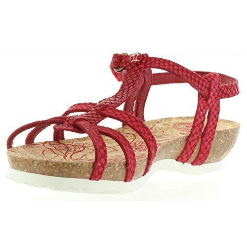 Sandalias de Mujer PANAMA JACK DORI SNAKE B4 NAPA ROJO
