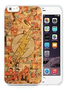 Newest iPhone 6 Plus/iPhone 6S Plus TPU Screen Case ,Unique And Fashionable Designed Case With Flash Superhero Logo White iPhone 6 Plus/iPhone 6S Plus 5.5 Inch TPU Phone Case