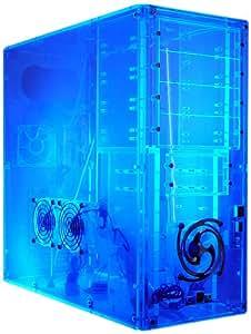 Logisys Corp. Assembled Clear Acrylic Case CS888UVBL, Transparent UV Blue
