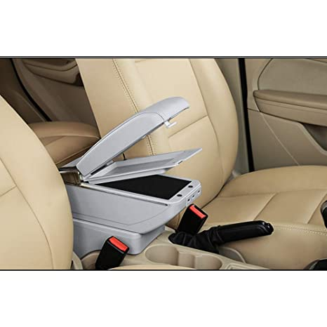For 2009-2017 V olkswagen Tiguan Luxury Car Armrest Center Console Accessories Arm Rest Built-in LED Light black