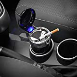 WINOMO Cenicero Auto Coche de Cigarrillos con luz Azul LED ...