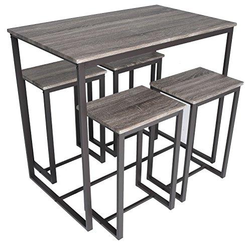 Zenvida 5 Piece Bistro/Pub Table Set with 4 Stools (And Cheap Stools Tables Pub)