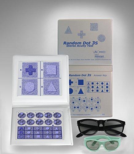 Stereo Random Dot 3S Acuity Test W/ LEA - 3d Polarized Test Glasses