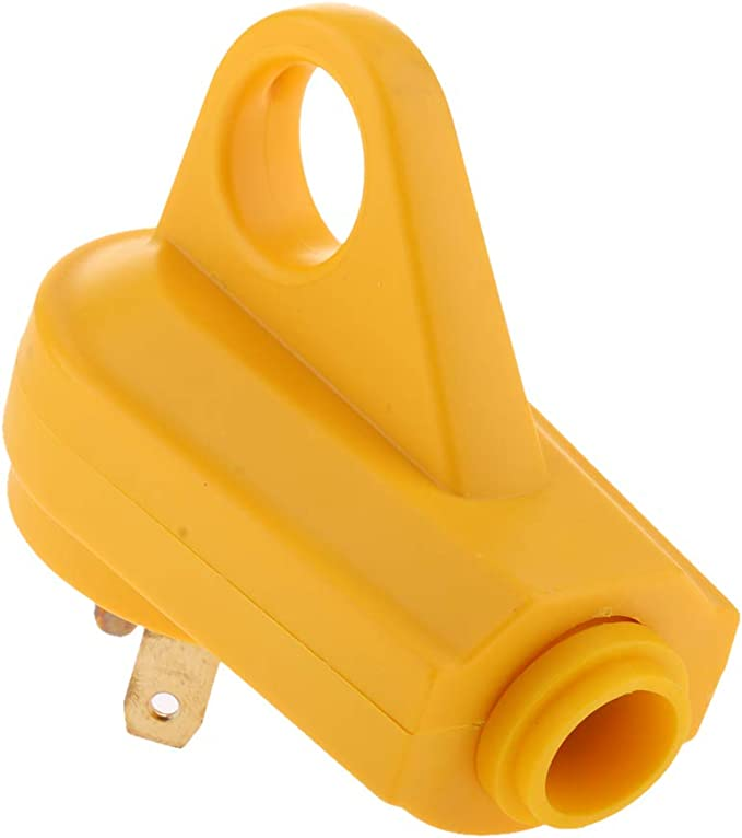 Yellow B Blesiya 125V//30Amp Heavy Duty RV Replacement Male Plug with Ergonomic Grip Handle