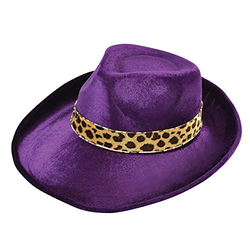 Bristol Novelty BH458 Fedora Velvet Purple Hat, One Size