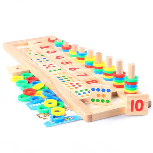Montessori Wooden Childrens Mathematics Enlightenment Logarithmic Game Board