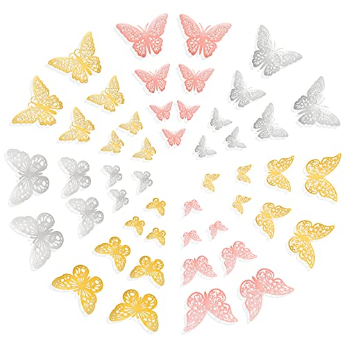 84 3D BUTTERFLY DECAL STICKERS