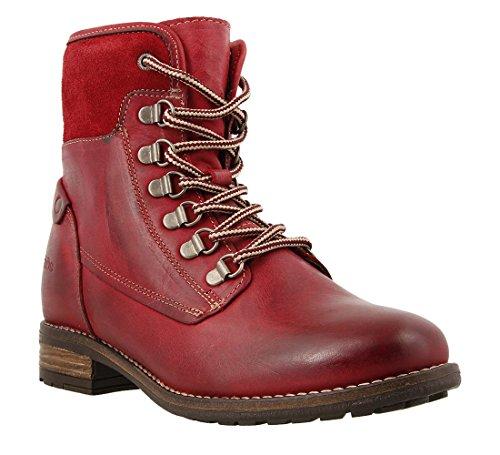 Taos Footwear Women's Ringer Red Boot 37 M EU/6-6.5 B(M) US