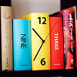 Desk Clocks Novelty Stacked Book Clock Table Desk Clock Book Design BookShelf Clock Desk & Shelf Clocks