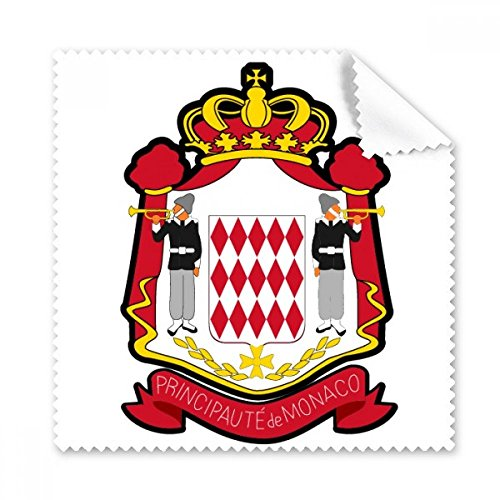 Principality of Monaco National Emblem Glasses Cloth Cleaning Cloth Gift Phone Screen Cleaner 5pcs