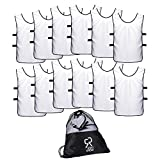 Sports Jersey Pinnies for Kids, Youth and Adults (12-Pack) | Perfect as Basketball Practice Jersey, Football Jersey or Pennies for Soccer | Last Longer and Look Cooler | Scrimmage Vests Men and Women
