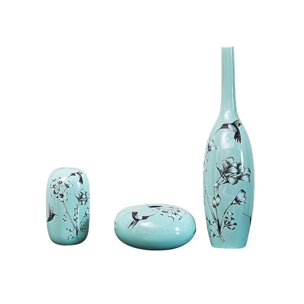 花瓶ホームデコレーションフラワークリエイティブ新しい中国のミニマリストのリビングルームの装飾ドライフラワーアレンジメント HUXIUPING B07T63XZYZ