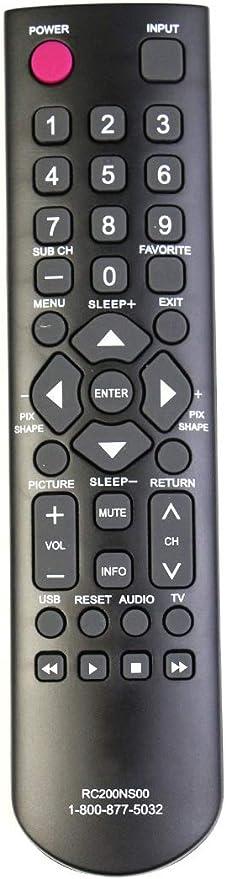 ALLIMITY RC200NS00 - Mando a distancia de repuesto para televisor Sanyo LCD DP32D53 DP32D53M DP40D64 DP50E44M FVD4064 FVM4012 FW24E05T RC200NS00: Amazon.es: Electrónica