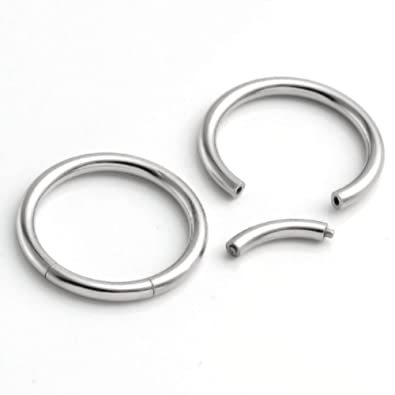 Amazon.com: PiercingJ 2pcs 14 g 16 g 8 mm 12 mm de acero ...