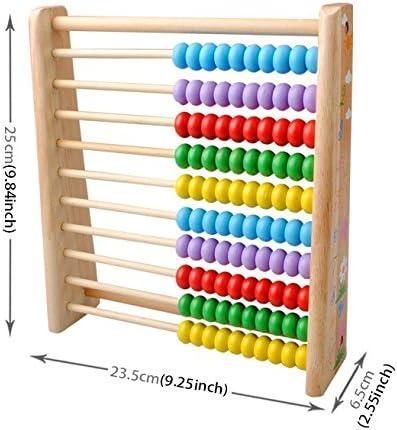 JUNERAIN Kinder Holz Zahlen Zahlen Form Match pädagogisches Lehr-Mathematik #HE