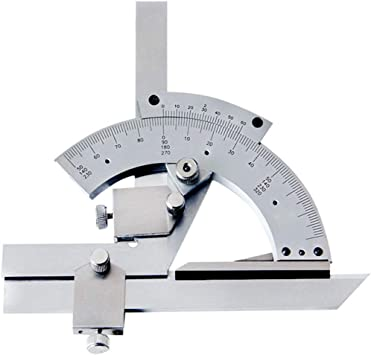 US 0-320° Precision Angle Measuring Finder Universal Bevel Protractor Tool