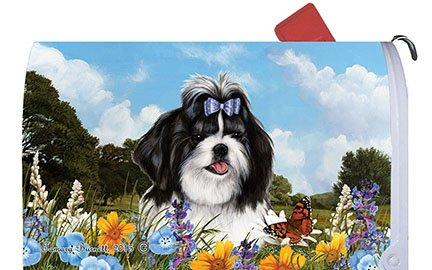 Shih Tzu Black/White - Best of Breed Dog Breed Mail Box Cover