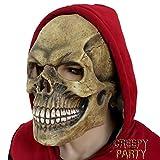 Creepyparty Deluxe Novelty Latex Halloween Mask Full Head Mask Skull Head