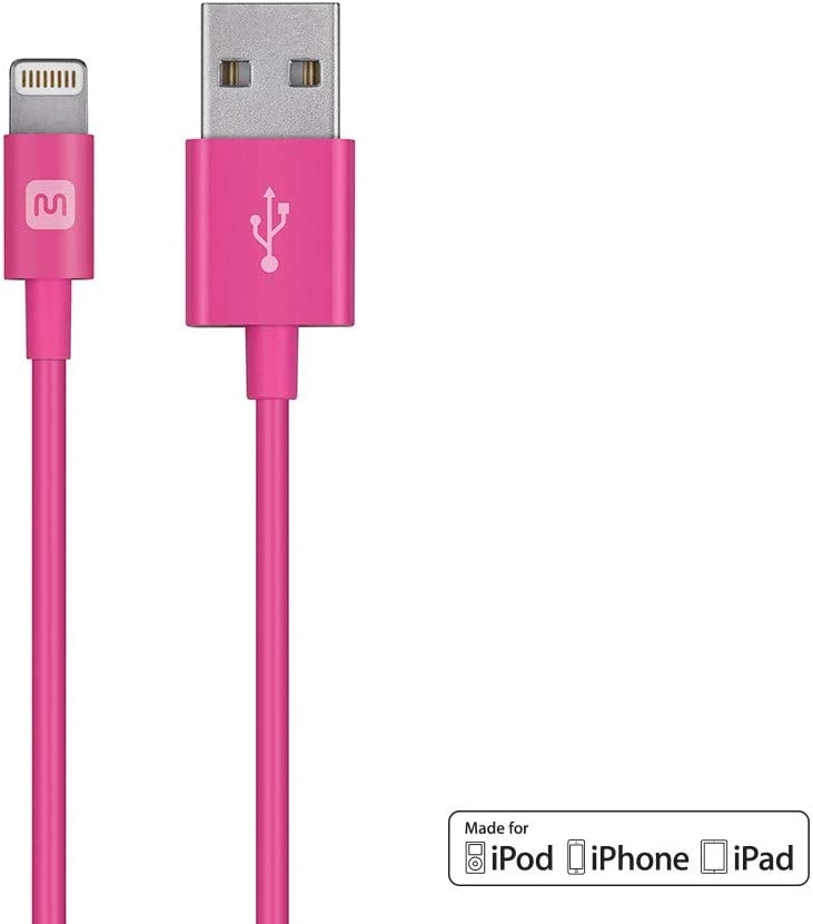 5S Monoprice Select Series Apple MFi Certified Lightning to USB Charge /& Sync Cable 8 6 Plus 7 Plus 7 8 Plus 6 4ft Blue for iPhone X iPad Pro