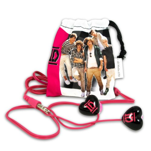 Price comparison product image 1 Direction Earbuds, Black with Pink Logo