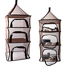 4 Layer Folding Camping Dry Net ,for Picnic Tableware, Vegetables, Fish, Fruit and Food storage ,In the wild Hanging Mesh Dish Dryer Rack Shelf Storage Basket