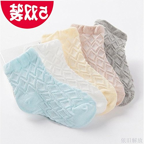 man boy and women girl baby cotton socks 0-1-3-5 years old baby socks summer thin models summer 6-12 months by Generic