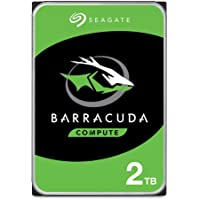 Seagate BarraCuda 2TB Internal Hard Drive HDD 3.5 Inch SATA 6Gb/s 7200 RPM 256MB Cache 3.5-Inch Frustration Free Packaging