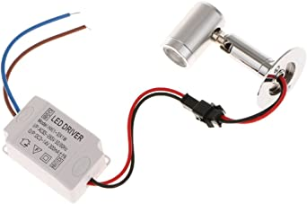 MagiDeal AC 86 265V Mini LED Lampe Licht Spot Möbelleuchte