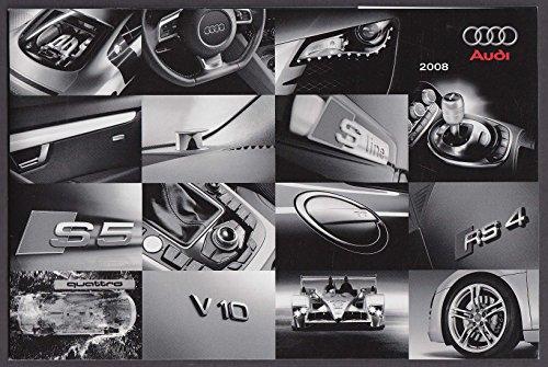 2008 Audi full line sales catalog R8 TT Coupe Roadster A5 S5 A4 A3 A8 S4 Q7 ++