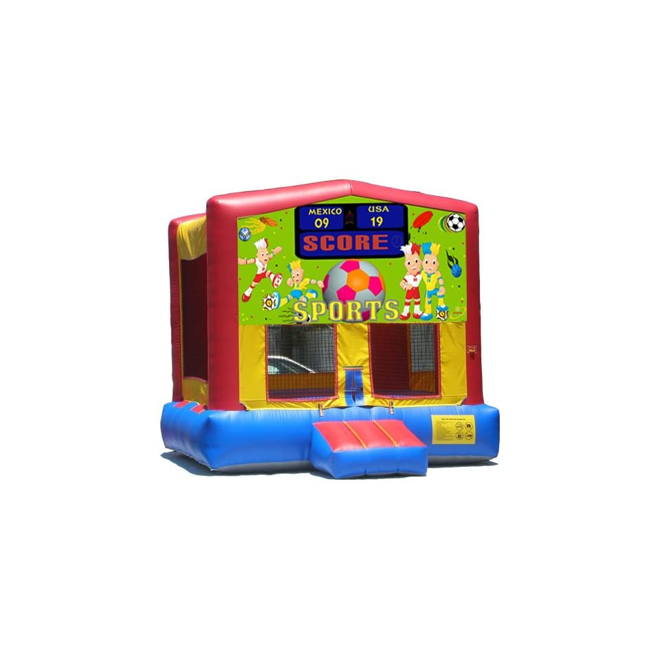 Sports Arena Bounce House Inflatable Jumper Art Panel Theme Banner 13 13 (No Bounce House)