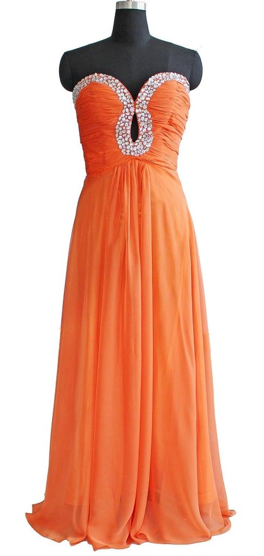 Oailiya Women's Crystals Long Evening Bridesmaid Dress