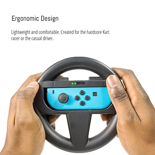 Orzly FOUR PACK of Steering Wheels for playing Mariokart on Nintendo