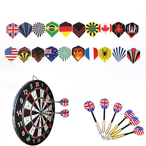 Delight eShop 12Pcs Of Soft Tip Darts & 36 Extra Tips Professional For Electronic Dartboard