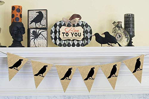 Cardstock Crow Banner | Halloween Decoration]()