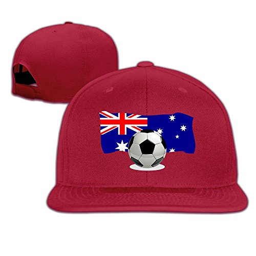 Soccer Ball with Australia Flag Plain Adjustable Snapback Hats Men's Women's Baseball (Mens Skeleton Costume Australia)