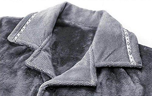 Di A Risvolto Servizio Set Autunno Corallo Pigiama Pile Da Sportivo Due Pezzi Inverno Casa Grey Con Abbigliamento Uomo In Spesso Caldo E pGSqzVMLU