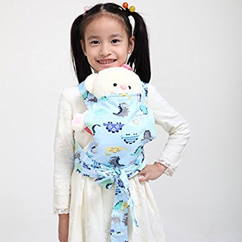 Baby Doll Carrier Mei Tai Sling Toy For Kids Children Toddler Front Back, Mini Carrier, Birthday Christmas Gift CN