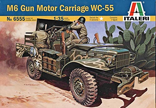 (Italeri 6555 M6 Gun Motor Carriage WC-55 1/35 Scale Plastic Model Kit)