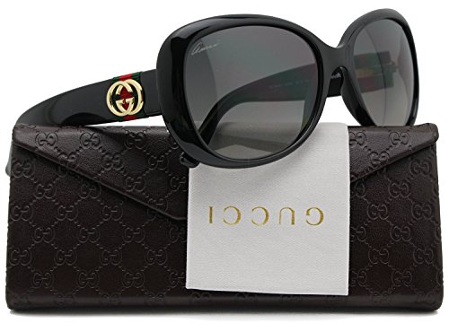 GUCCI GG3644/S Polarized Sunglasses Shiny Black (0D28) 3644/S D28 WJ 56mm - Gucci Polarized