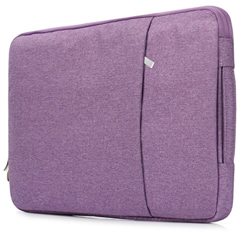 Laptop Sleeve Case 11 - 11.6 Inch, Portable Handle Ergonomic Design, Waterproof Shockproof Notebook Computer Protection Bag Handbag for MacBook Pro Retina Air Acer Dell HP Asus Surface Book - Purple