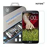 HUYSHE® 0.3mm Ultra-thin Tempered Glass Screen Protector for LG G2 with 9H Hardness/Perfect Anti-scratch/Shatterproof/Fingerprint & water & oil resistant (LG G2)