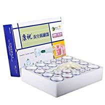 Kangzhu 24-Cups Biomagnetic Chinese Cupping Therapy Set Traditional Chinese Massage Medical Cupping Set SuctionAcupuncture