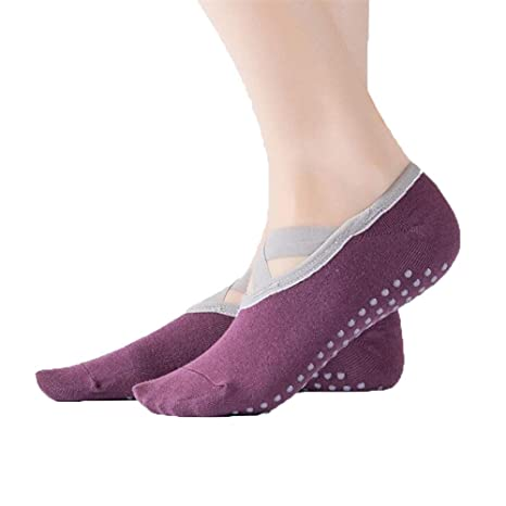 L-MEIQUN,3 Pares de Calcetines de Yoga para Damas Simples y ...